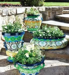 Moroccan Garden Ideas Horchow Garden Planters With A Moroccan Design For Backyard Moroccan Design Planters