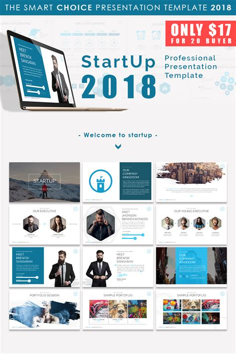 Start Up 2018 Presentation Powerpoint Template 66169 Top Ppt Templates Free Start Up