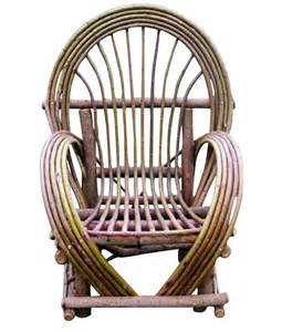 willow arm chair rustic artistry