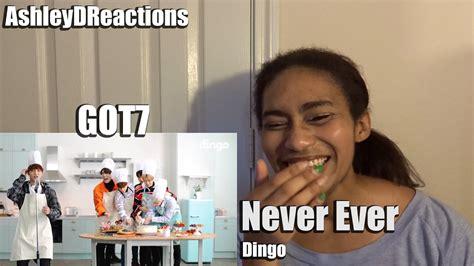 got7 dingo got7 never ever dingo reaction youtube