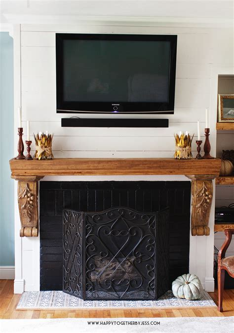 refresh brick fireplace a fireplace refresh