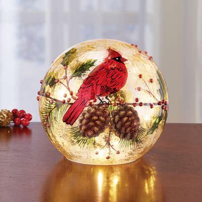 cardinal decorations cardinal lighted decoration from
