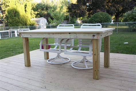 woodworking plans outdoor table   build  easy diy