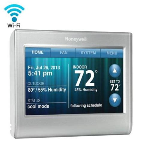 honeywell wi fi smart thermostat rth9580wf the home depot