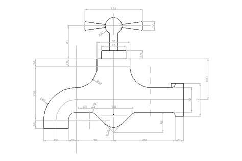 Faucet Cad by Bloques Cad Autocad Arquitectura 2d 3d Dwg