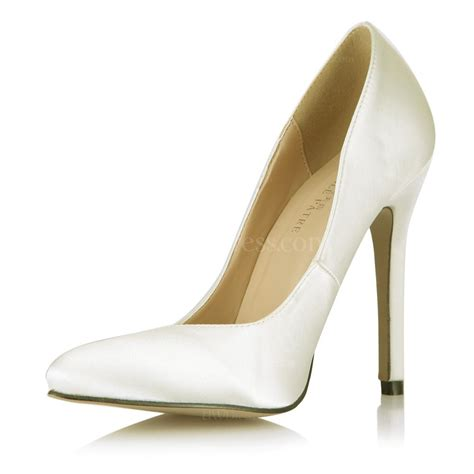 narrow high heels pumps heels silk like satin closed toe casual