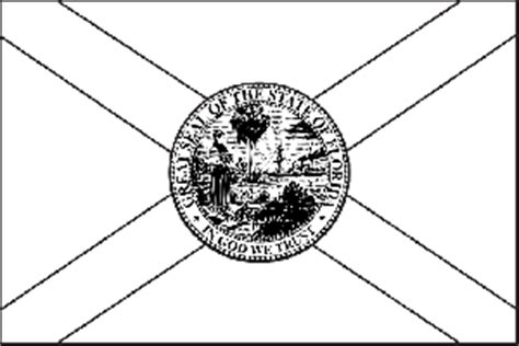 Florida State Flag Coloring Page Florida Flag Coloring Page