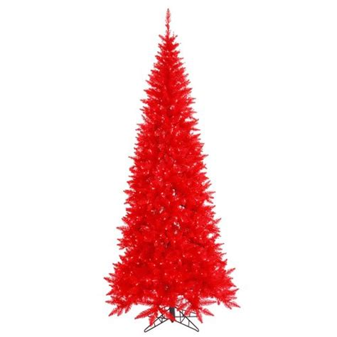 red christmas tree christmas trees 6 5 pre lit ruby red fir slim artificial