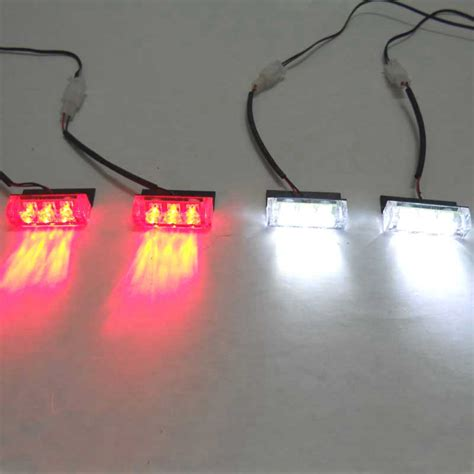 green led emergency lights 4x3 led red blue white green amber yellow strobe light led