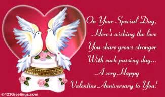 Wedding Anniversary Wishes On Valentines Day by A Happy Valentines Anniversary To You Pictures