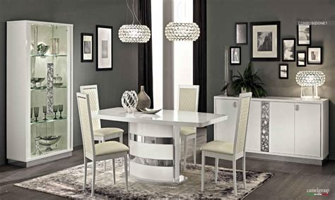 white dinette sets modern italian dining tables modern