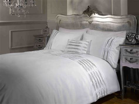 silver and white bedding white and silver bedding sets diamante detail duvet