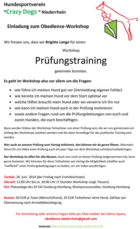 Muster Einladung Workshop Einladung Workshop Animefc Info