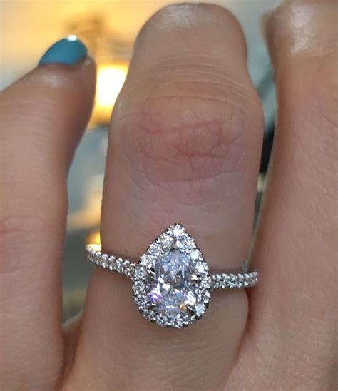 1000 ideas about pear engagement rings on