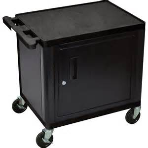 luxor utility cart with locking steel cabinet 400 lb