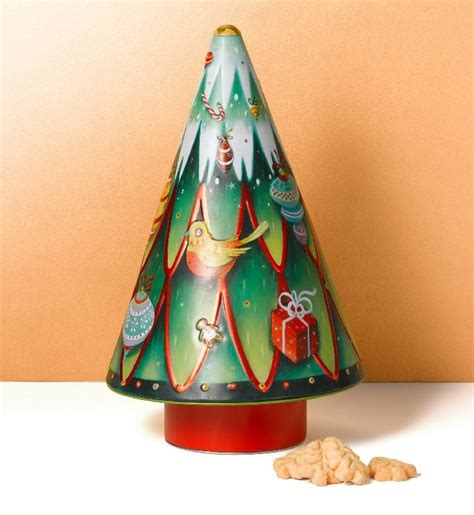 musical rotating christmas tree biscuit tin marks