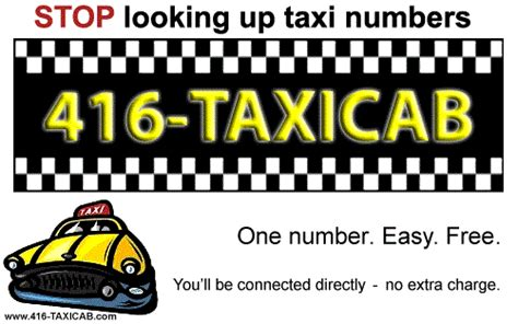 Comfort Taxi Number Call by Toronto Taxi Just 416 Taxicab One Number For A