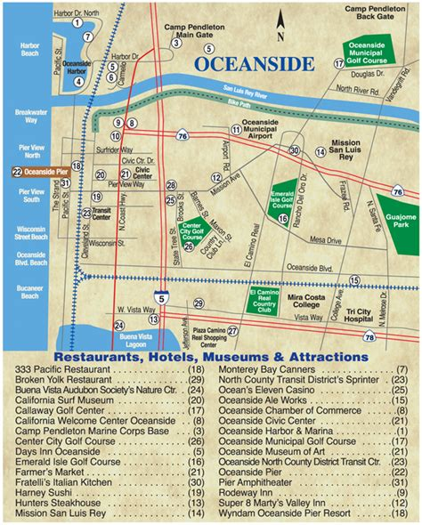 oceanside california map oceanside is san diego county s shore