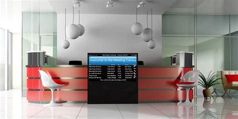 Touch Screens Kiosks Interactive Room Scheduling Reception Desk Screen