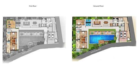 2 bed pool villa floor plan chandra bali villas bali villa floor plans