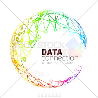 stock illustration of abstract network connection vector