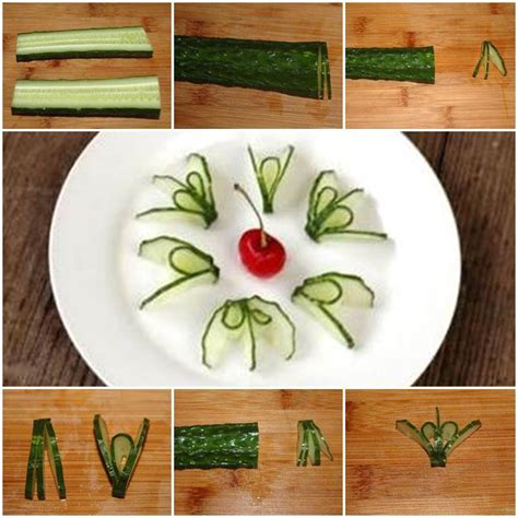 diy flower food food diy cucumber flower