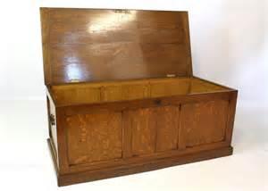 Oak Ottoman Storage Upholstered Oak Ottoman Chest Trunk Storage Box Antiques Atlas
