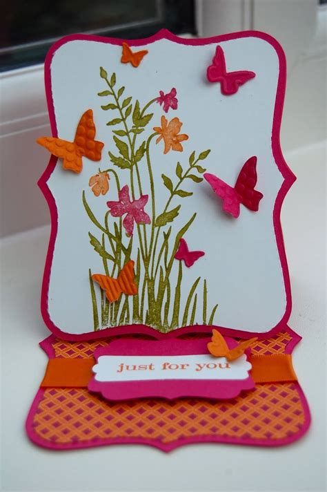 Butterfly Easel Card Template by 1000 Ideas About Easel Cards On Card