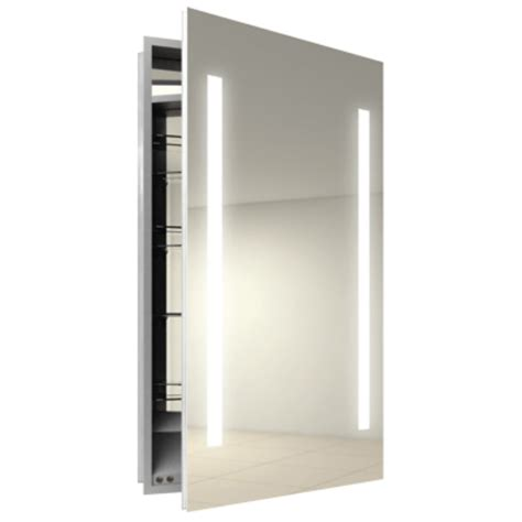 recessed medicine cabinet with lighted cabinets matttroy