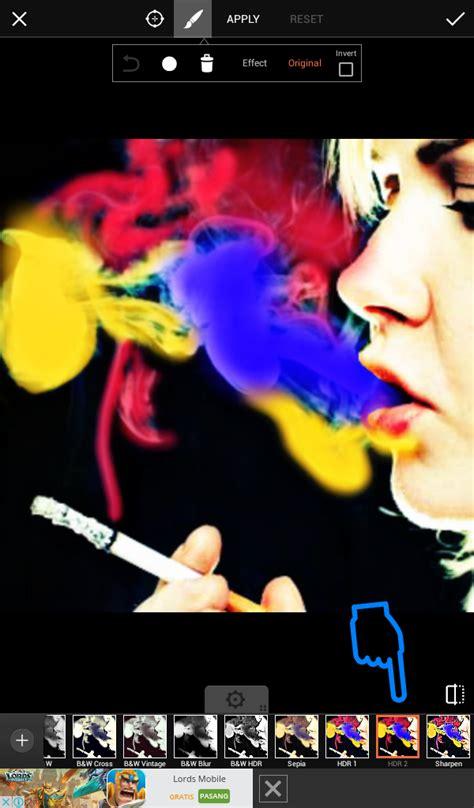 cara membuat obat bius asap rokok cara edit foto asap rokok berwarna dengan picsart