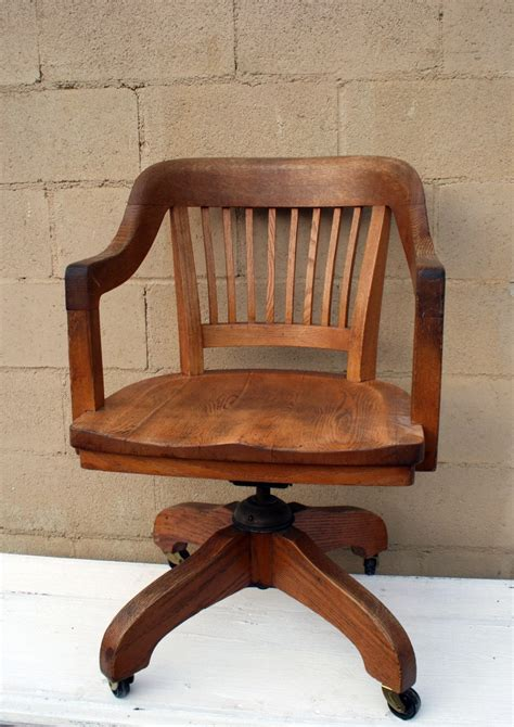 antique wooden office chair parts vintage oak office chair