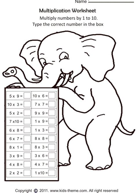 Worksheets For Grade 1 Free Printable by Math Worksheets Multiplication Printable Multiplication