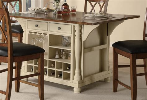 buttermilk cherry kitchen island with drop leaves 102271 coaster 102271 kitchen island buttermilk brown 102271 at