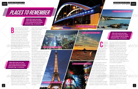 magazine layout in indesign magazine template indesign 56 page layout v1 yearbook