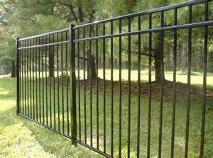 aluminum metal fence for backyard with black color home