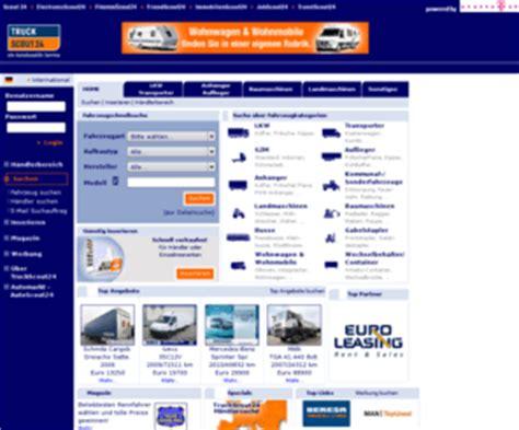 Autoscout Wohnwagen Gebraucht by Truckscout24 De Lkw Transporter Baumaschinen