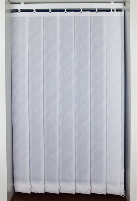 Jonquill White Vertical Blinds 89mm Wide Slats Woodyatt