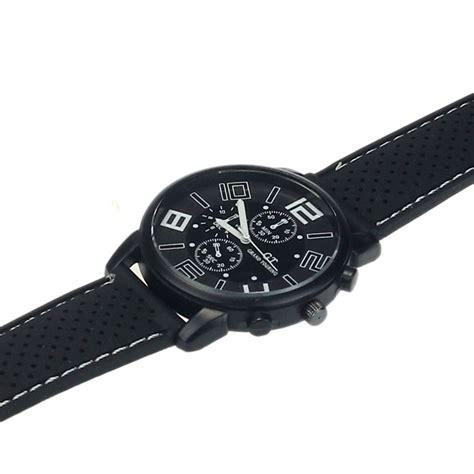 Jam Tangan Analog Wristwatch new mens stainless steel luxury sport analog quartz clock
