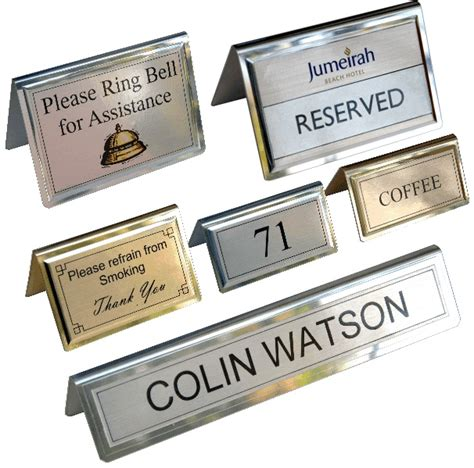 Table Signs by Table Signs Corporate Insignia Staff Name Badges