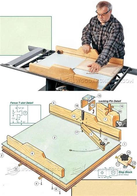 table saw crosscut sled plans 247 best images about table saw on table saw