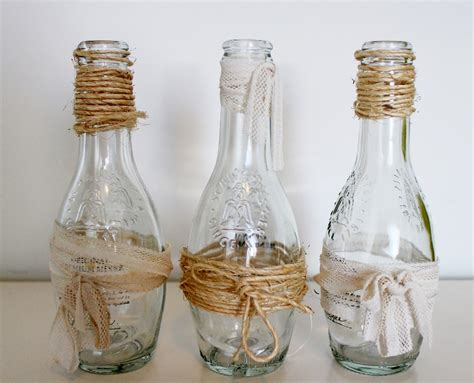 como decorar botellas de vidrio con mecate ideas creativas con botellas elena sevilla