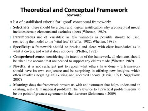 sle of conceptual framework in research paper workshop slides on research and procedure 180415