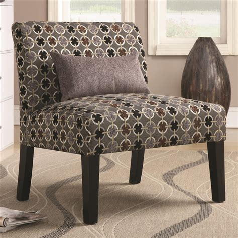 geometric accent chair geometric pattern fabric accent chair by coaster 902234