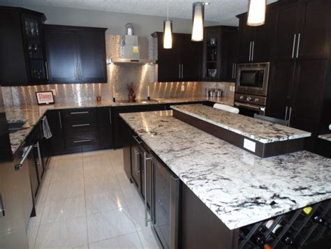 espresso kitchen cabinets with white granite granite countertops alaska white granite with espresso