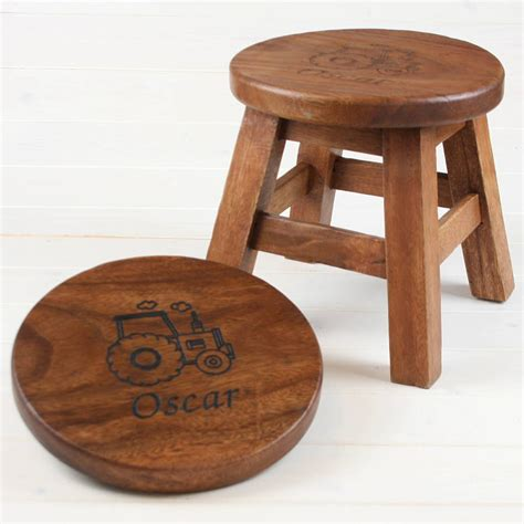 personalised wooden stool for children by when i was a kid