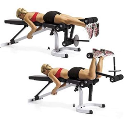 leg curl bench exercises leg curl s health magazine
