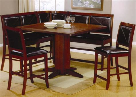 corner dining room tables corner unit dining set counter height 101791 101792 coaster