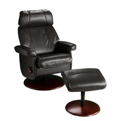 recliner leans to one side home decorators collection leather recliner and ottoman