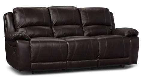 genuine leather reclining sofa marco genuine leather reclining sofa chocolate the brick