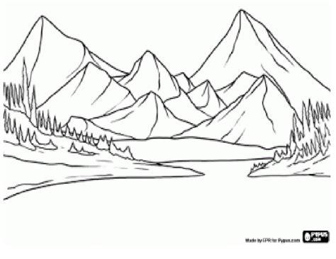 imagenes faciles para dibujar paisajes un paisaje natural en dibujo imagui